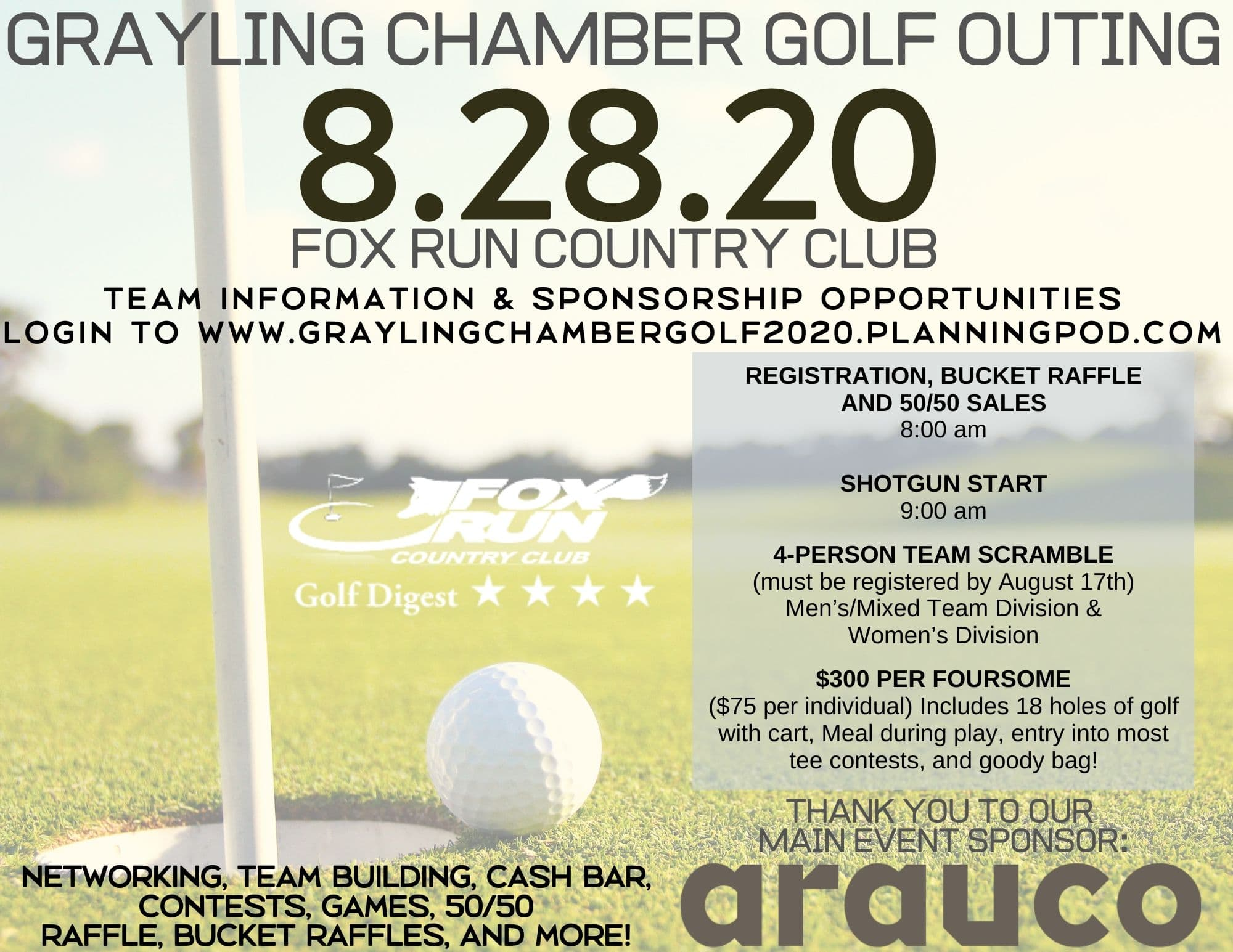 REGISTER ONLINE FOR THIS YEAR'S CHAMBER GOLF OUTING!