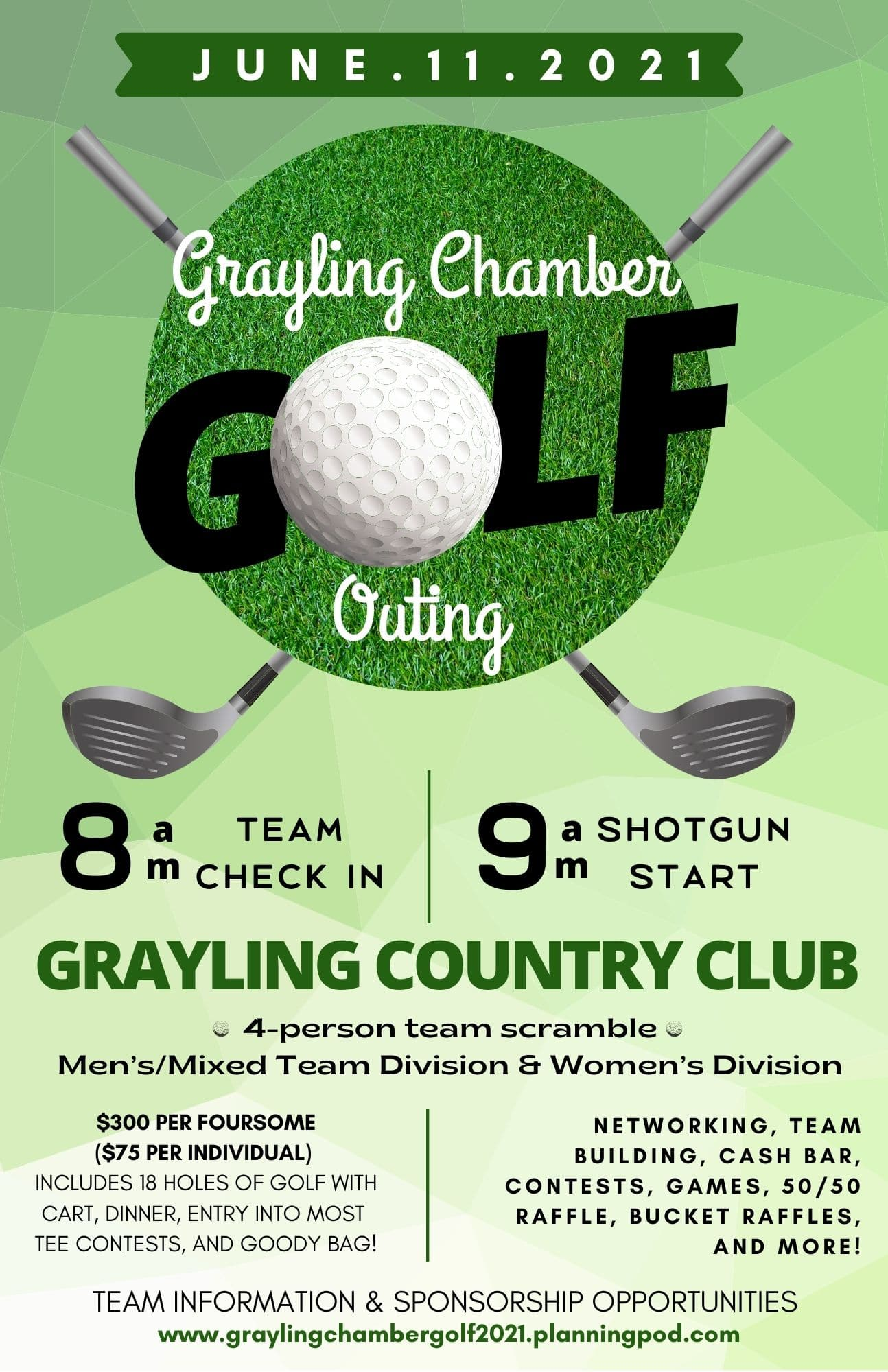 WE CAN'T WAIT TO SEE YOU ON THE COURSE!