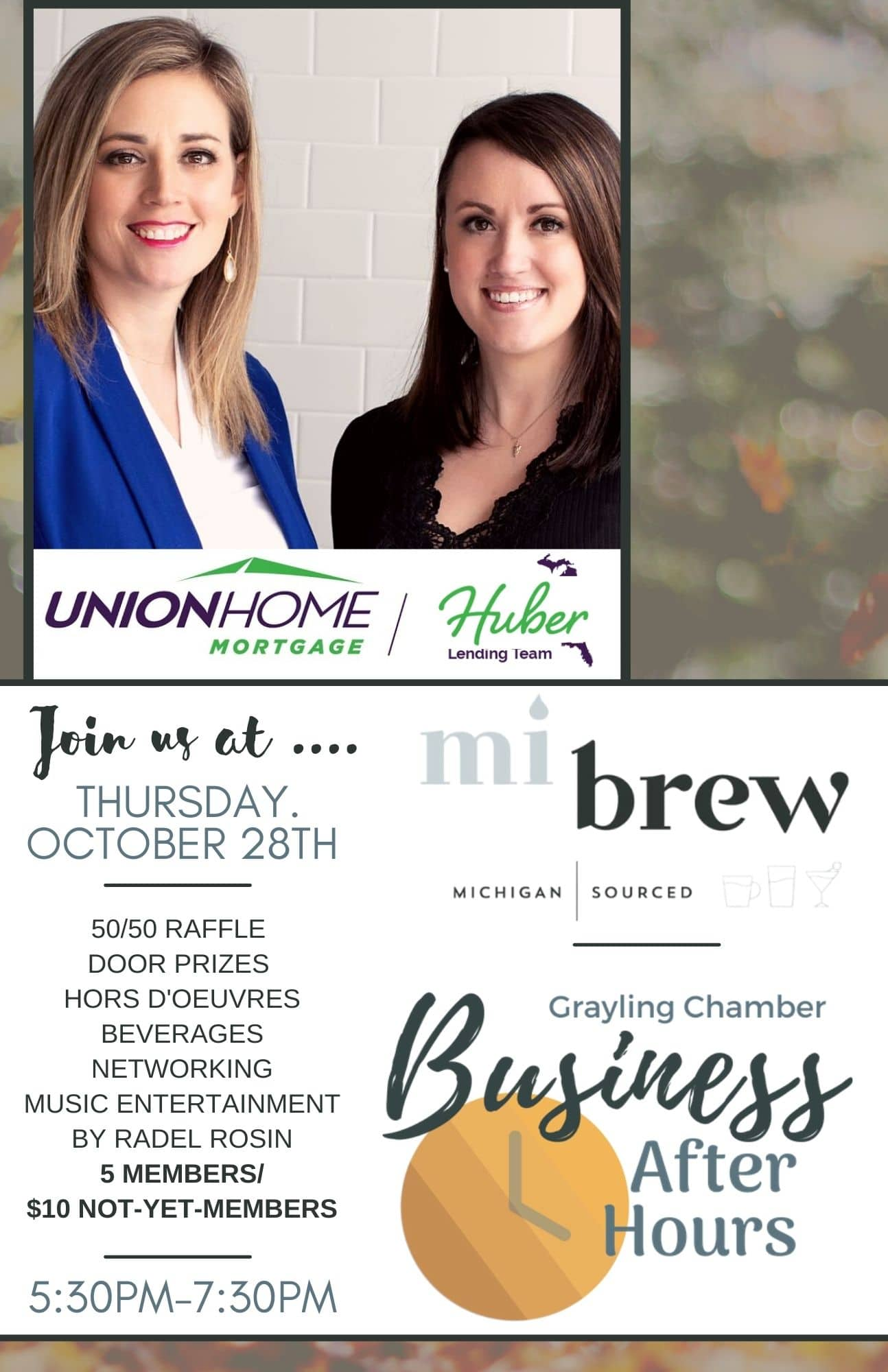 UPCOMING OCTOBER BUSINESS AFTER HOURS